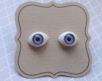 Eyeball Earrings, blue eyes, titanium earrings, nickel free post