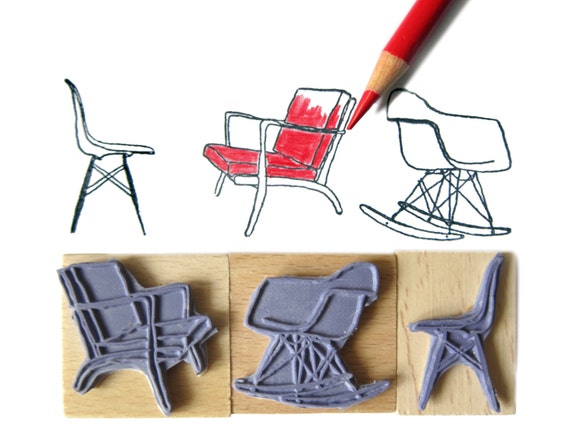 eames chair stamps