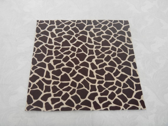 Giraffe print table square 12 inch square baby by for 12 inch square table
