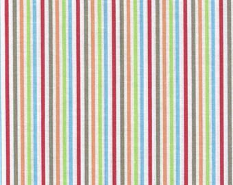 Cotton Fabric Multi Striped Fabric Red Gray Fabric Blue Striped Fabric Cotton Quilting Fabric Sewing Supplies YacketUSA