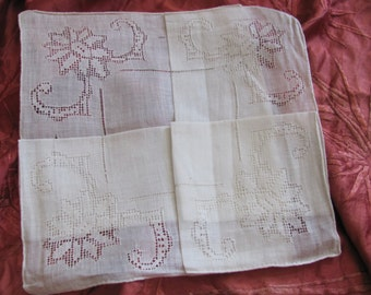 Beautiful Solid White Cotton Hankie Handkerchief - Unused NOS Circa 1950s