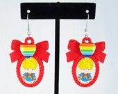 Lovely Rainbow Brite Cameo Earrings