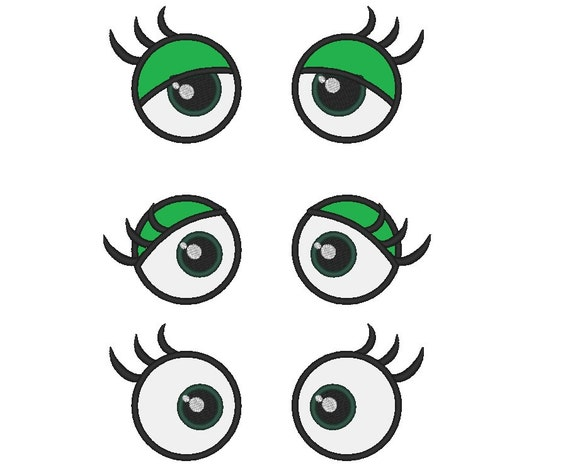 Your Toy eyes - frog eyes applique -machine embroidery applique designs - 3 types 2, 3 and 4 inches INSTANT DOWNLOAD
