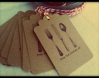 Handmade From the Kitchen of Kraft Gift Tags from Curious London