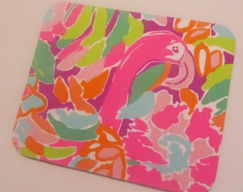 Fabric Mouse Pad Multi Lulu made with Lilly Pulitzer Fabric