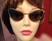 Vintage 40s 50s Cat Eye Sunglasses
