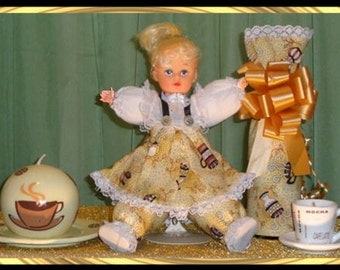OOAK, Abbey, Caucasian Doll Gift Set, includes two coffee candles and Champagne Bottle Cover