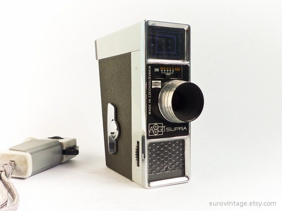Vintage 60s Super8 Film Camera Meopta Supra Double Super8