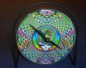Grateful Dead Recycled CD Clock Art