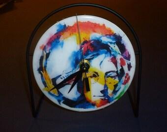 John Lennon Recycled CD Clock Art