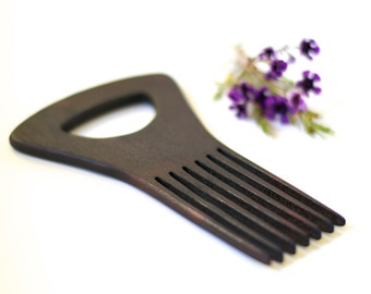 Blackened Shower Comb - Natural