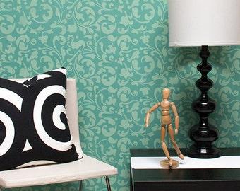 Allover Swirls Stencil for Wall Stenciling and DIY Decor