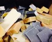 SUPER SALE 1LB Soap Odds & Ends, Bars n Blocks, Bargain Bag, Natural Soap, Handmade Soap