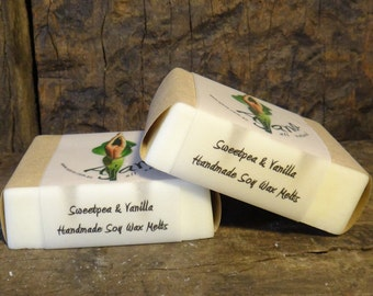 Sweetpea & Vanilla Handmade Soy Melts - Flat Rate Shipping Now Available!