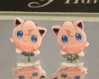Jigglypuff Stud Earrings
