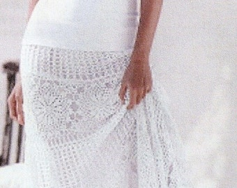 Crocheted Boho Long Skirt w/Sunflowers and Lace - Made to Order -