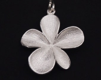 1 of  925 Sterling Silver Matte Flower Pendant 22mm. :th1745