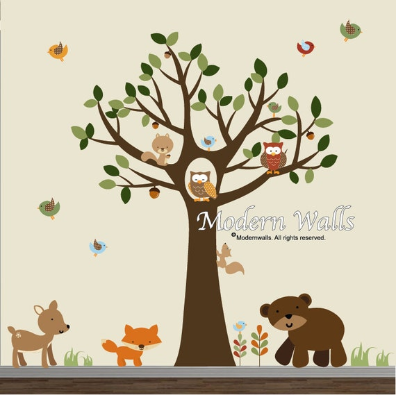 Church Nursery Pictures Google Search: Wall Decal-Decals Stickers Vinyl Tree Decal Forest Set-e81
