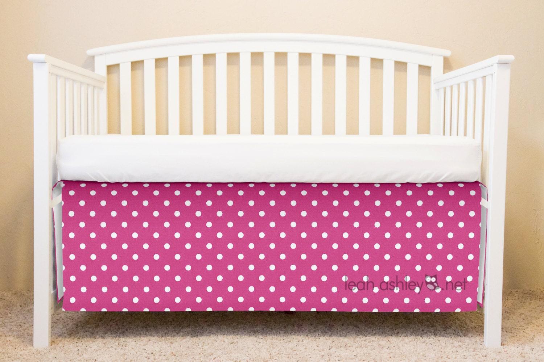 Hot Pink Crib Skirt 73