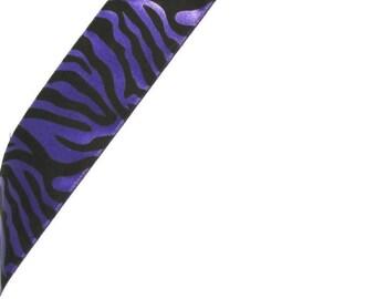Purple Zebra Print Ribbon...12 Feet