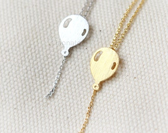 Balloon Necklace/ choose your color / gold and silver