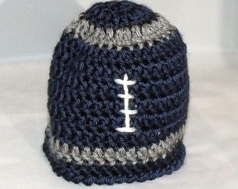 Crochet Football Team Colors Hat Made to Order