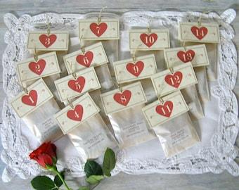 "Valentine Tea Sampler • 14 Romantic Tea Flavors • ""How do I love TEA? Let me count the ways..."""