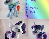 Instant Download Pony Mane and Tail Sewing Pattern multicolor rainbow purple mane tail