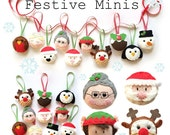Festive minis Christmas Ornament decorations - PDF Pattern