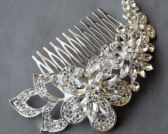 Bridal Headpiece Tiara Headband Rhinestone Hair Comb Accessory Wedding Jewelry Crystal Flower Side Tiara CM088LX