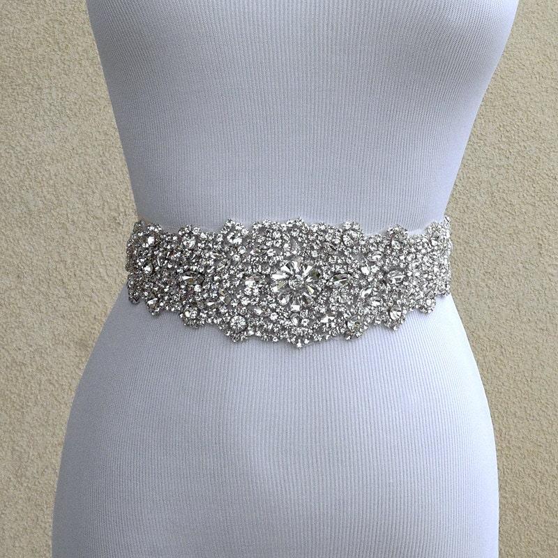 bridal sash belt wedding dress sash belt rhinestone wedding