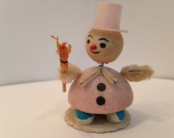 vintage pipecleaner snowman