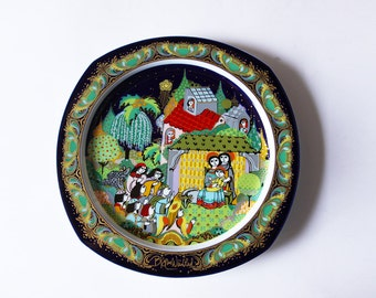Vintage Bjorn Wiinblad Christmas Plate ' Silent Night' 1983 by Rosenthal
