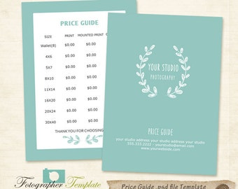 Photo Pricing List | Etsy