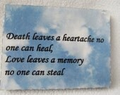 Death & Love plaque