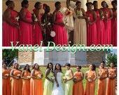 Infinity Dress, Bridesmaids Dresses, Wrap Dresses,Convertible Bridesmaid Dress