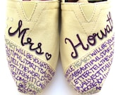 The Horvath - Purple and Cream Custom Wedding TOMS