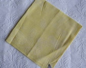 Vintage Handkerchief - Herrmann Hanky - Yellow Hanky with White Butterflies - Hemmed Edges