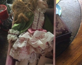Vintage Designer Doll 18 inches original box and packing materials red hair doll