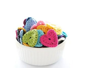 Crochet Hearts - Set of 20 (1.75 inch)