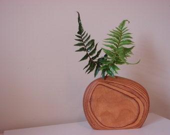 Artist hand crafted  wood vase