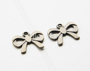 30pcs / Bow / Antique Brass Tone / Charms / 19x15mm (YB16768//A138B)