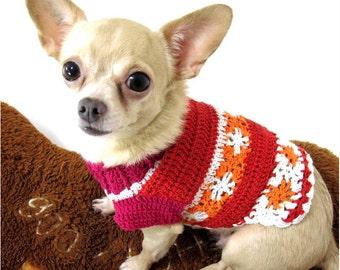 Free Sweater Dress Knitting Pattern For a Chihuahua