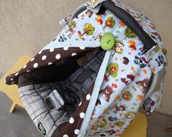 Carseat Canopy Forest Animals