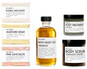 BATH+BODY KIT {coffee meadow} - sampler - organic - apothecary