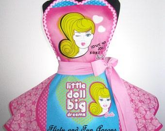 Retro Pink Barbie Apron