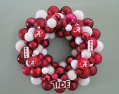 ALABAMA CRIMSON TIDE Ornament Wreath