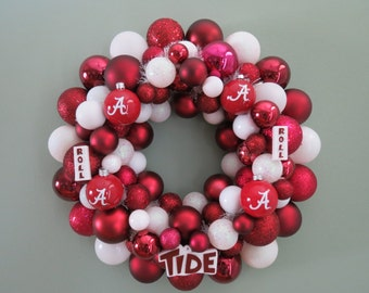ALABAMA CRIMSON TIDE Ornament Wreath