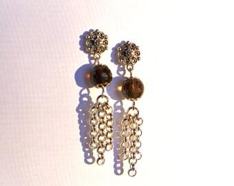 Smokey Quartz Earrings (N987)