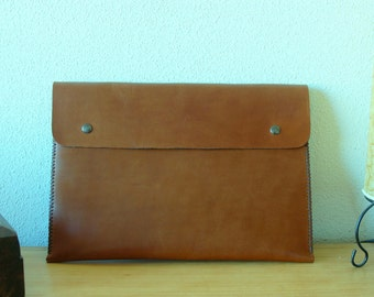 13 Inch Macbook Pro Leather case, 13 MacBook Pro case, MacBook case, MacBook 13 case, 13 inch MacBook sleeve, MacBook sleeve - Dark Brown